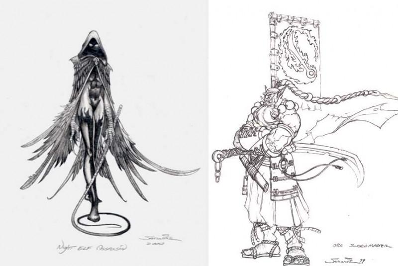 在這個稀有概念美術館中探索魔獸爭霸III的起源3